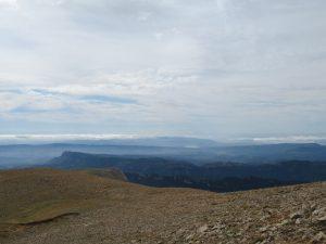Sierra de Güel y pantano de Barasona al fondo