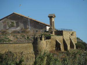 Siétamo. Murallas antiguo castillo del Conde de Aranda