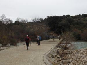 Cruzando el río Alcanadre