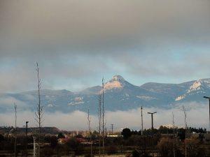 Sierra y Peña Gratal desde Huesca