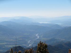 Río Cinca y pantano de Mediano al fondo