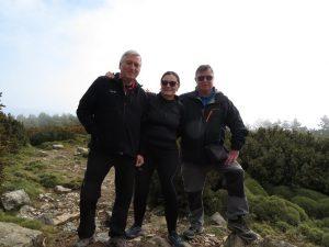 En la cima del Pico Puchilibro