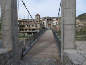 Pont de Montañana. Puente colgante