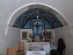 Aguinaliu. Interior capilla del Santo Cristo
