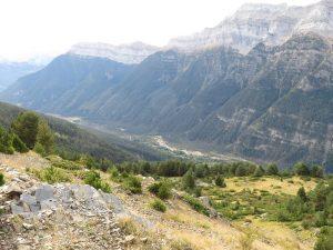 Río Cinca por el fondo del valle